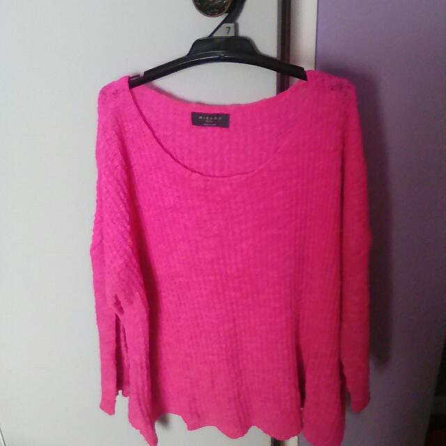 Pink Mirrou Knit