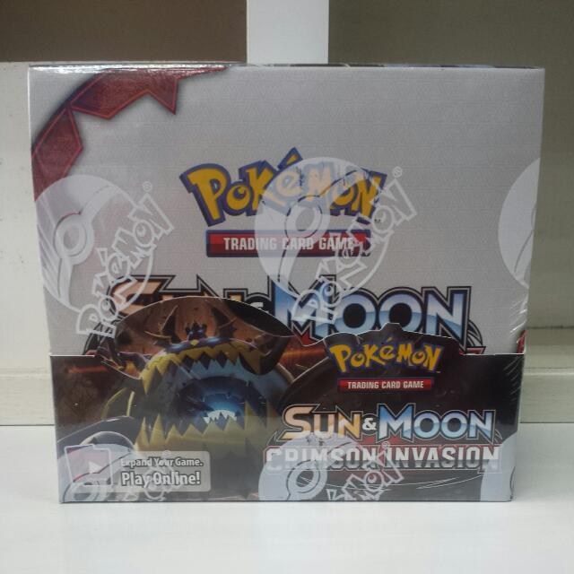 Pokemon TCG Sun & Moon Crimson Invasion ($4.60 Per Pack) ($139 Per Box)