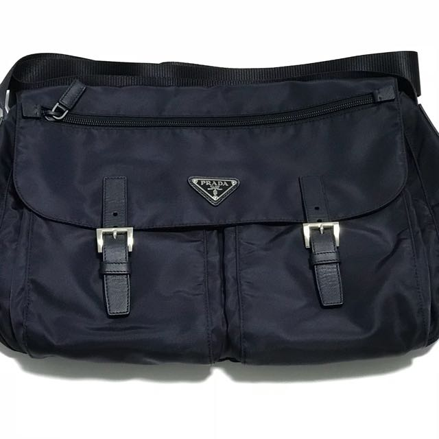 Prada Men S Nylon Sling Bag Pattina In Tessuto Fashion Bags Wallets On Carou