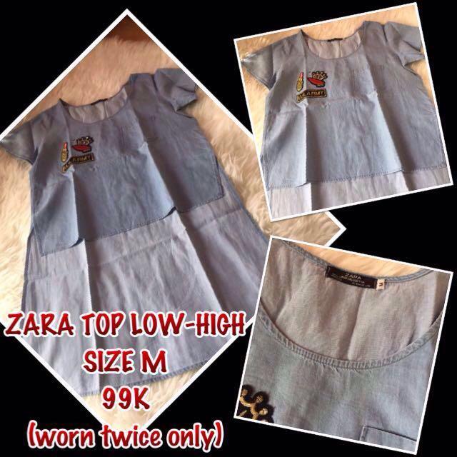 [RE-priced] ZARA LowHigh Top