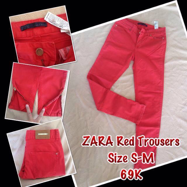 [RE-priced] ZARA Red Trousers