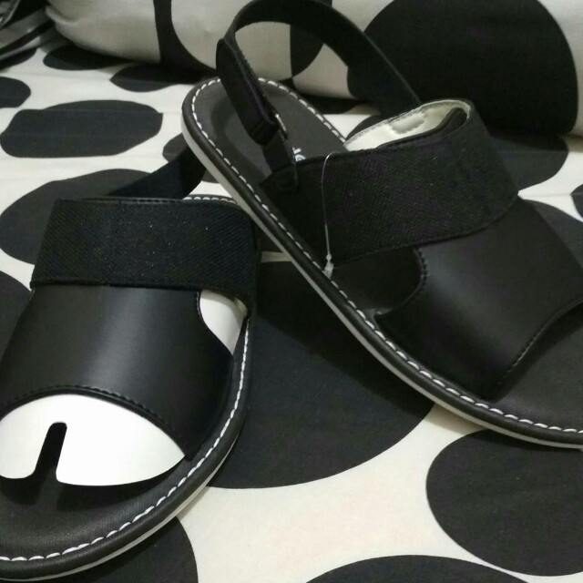 Home · Catenzo Sandal Pantofel Kulit Pria Sepatu Sandal Ya 042 Hitam; Page - 6