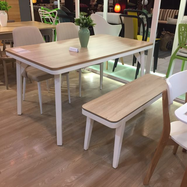 Scandinavian Barley Dining Table Furniture Tables Chairs On Carousell