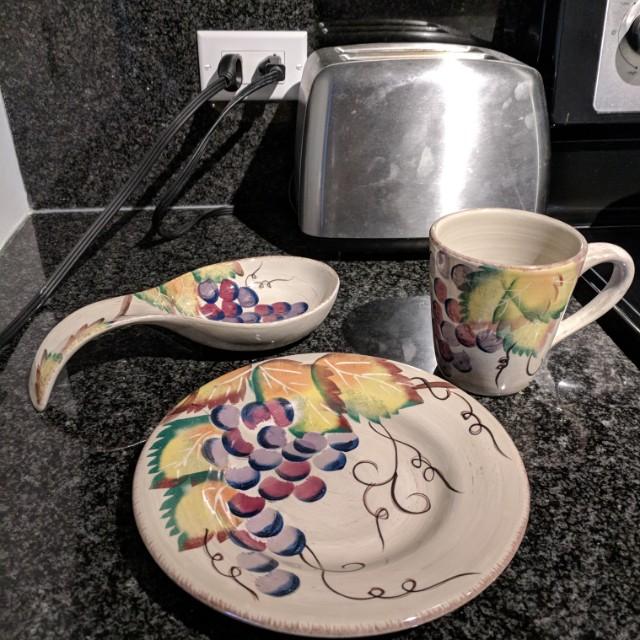 Set of plates and mugs
