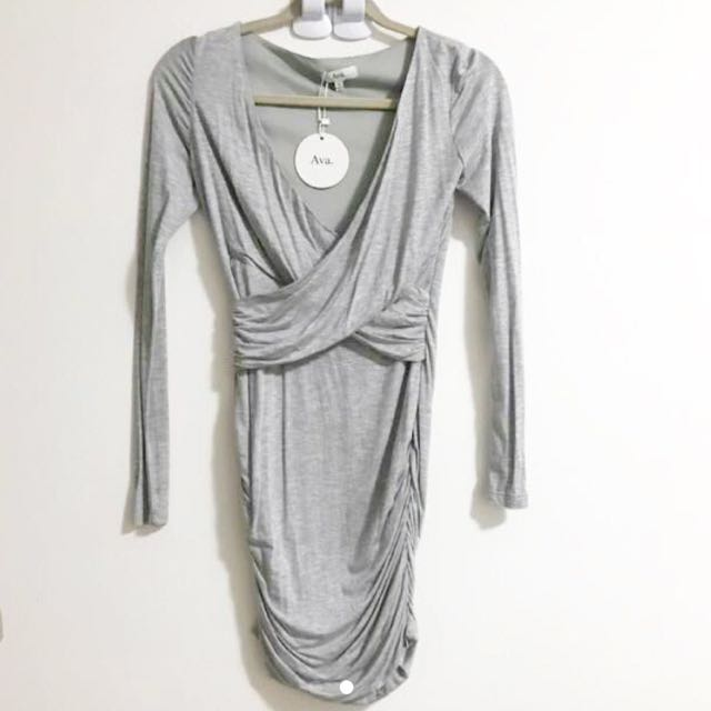 Size 8-10 Grey Long sleeve dress