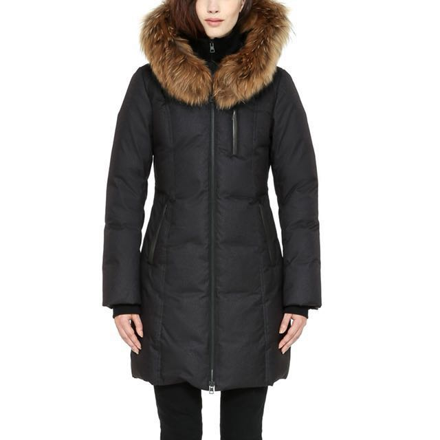 Soia Kyo Chrissy Coat Real Fur Xs