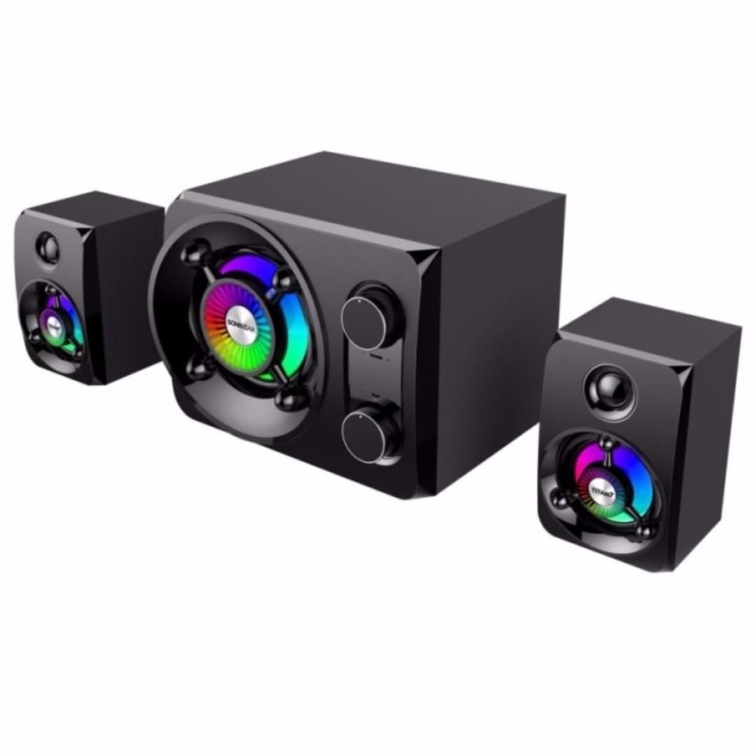 SonicGear Titan 7 BTMI Pro Bluetooth 2.1 Multimedia Speaker System, Electronics, Audio on Carousell