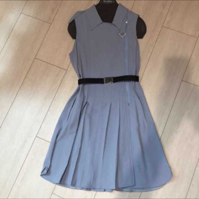全新SportMax天藍絲質洋裝