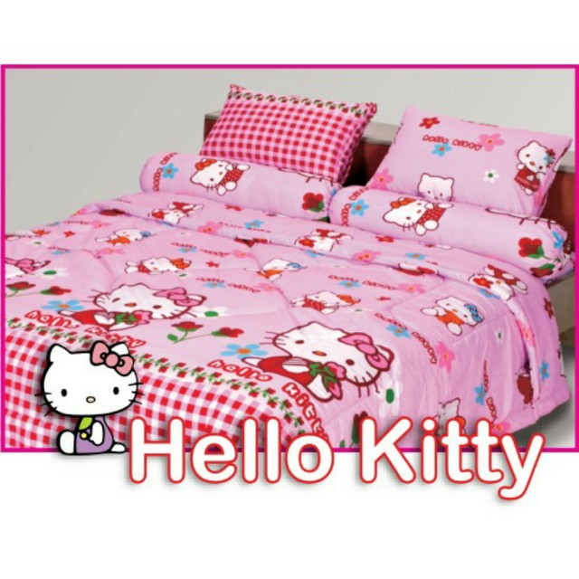 Sprei single hellokitty
