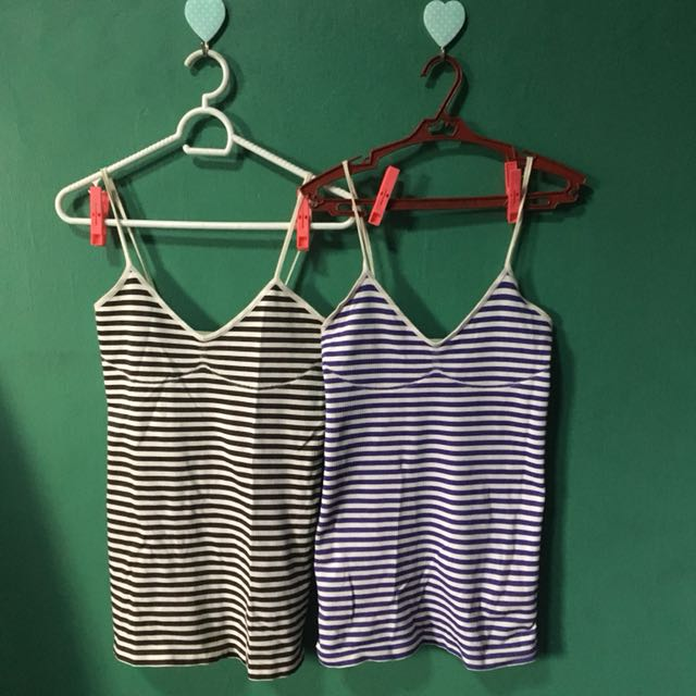 Striped Spaghetti Straps