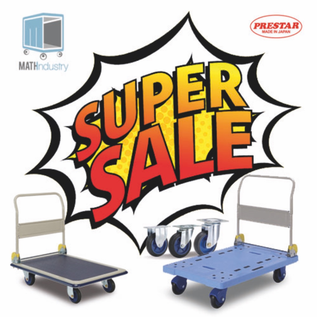 SUPER SALE ON PRESTAR TROLLEY HAND TRUCK & SPARE WHEELS (MADE IN JAPAN)