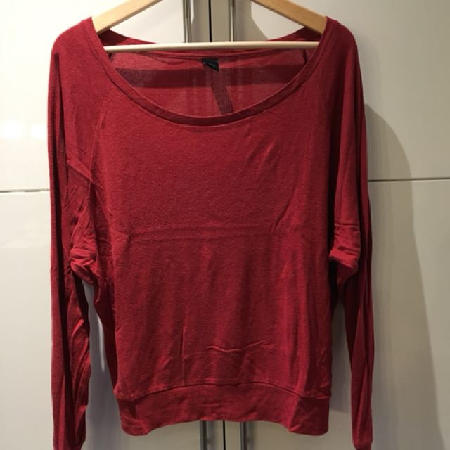 TNA long sleeve loose fit shirt size M