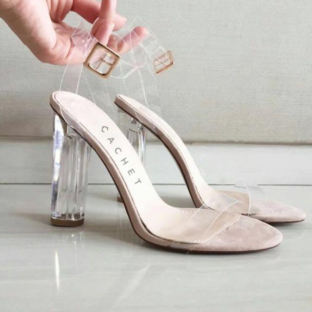 Transparent Pink Shoes