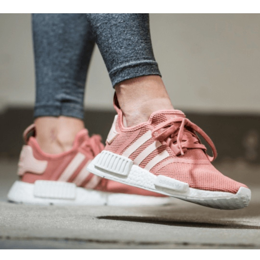f26794c315711 ADIDAS NMD R1 WMNS RAW VAPOUR PEACH PINK CORAL SALMON S76006 ...