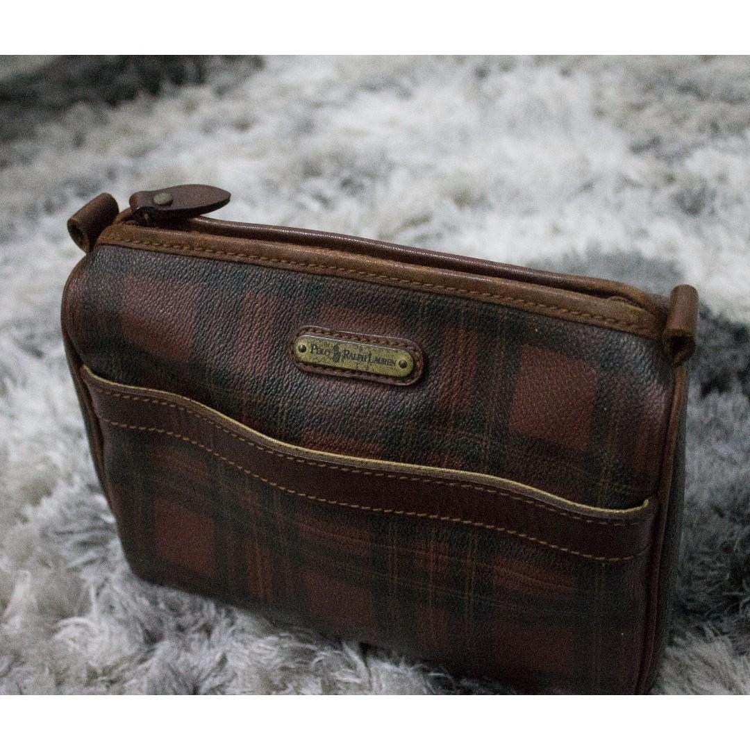 Vintage Ralph Lauren Plaid Tartan Clutch Bag Men Casual 1c5ee254ac21a