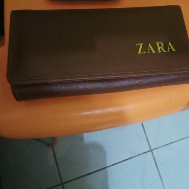 Wallet dompet coklat brown zara