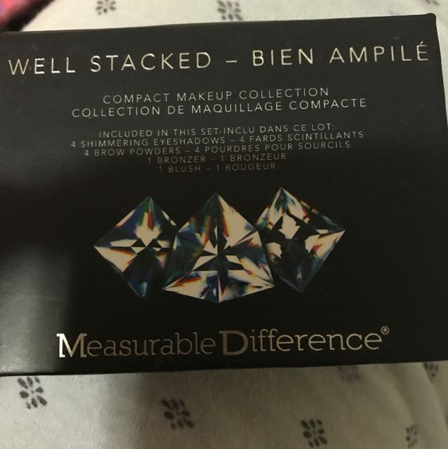 Well stacked eyeshadow blush bronzer palette by measurable difference