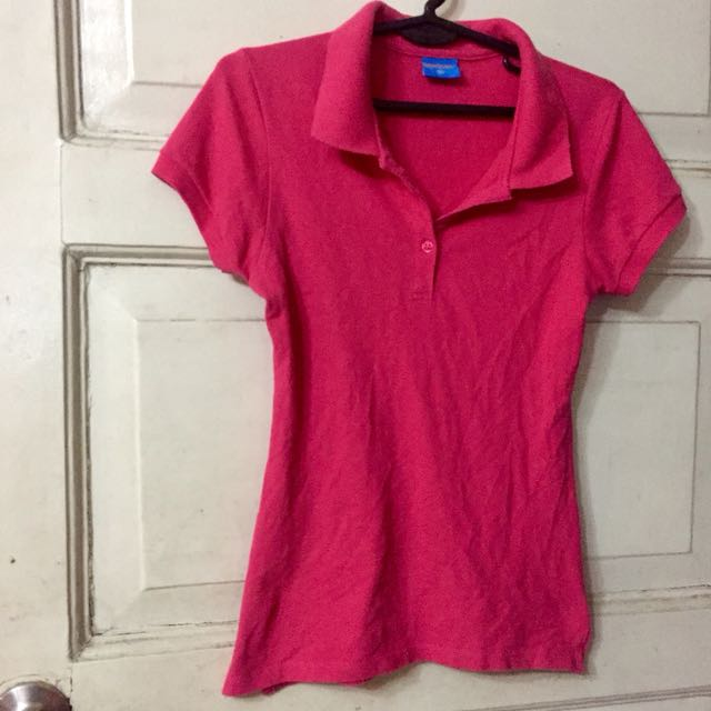Whatever pink polo shirt S size