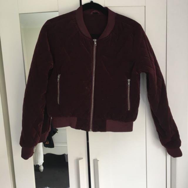 Women's quilted bomber