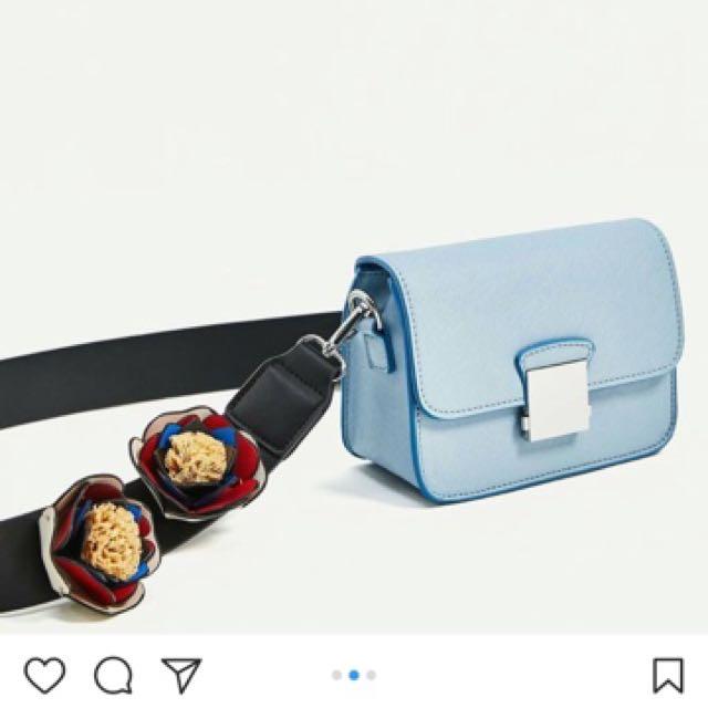 zara baby blue bag