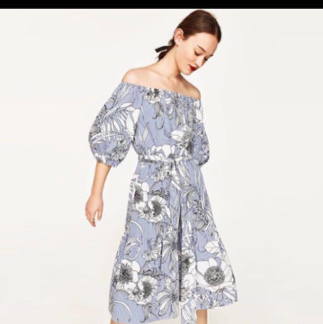 c0afb46bc2a6 Zara inspired off shoulder dress