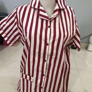 Red Stripes Pajamas (short-pants)