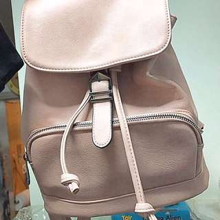 韓國袋 背囊 書包 復古粉紅色袋