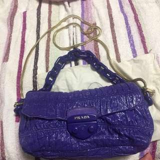 100%真品prada 漆皮紫色袋 #11flashsale
