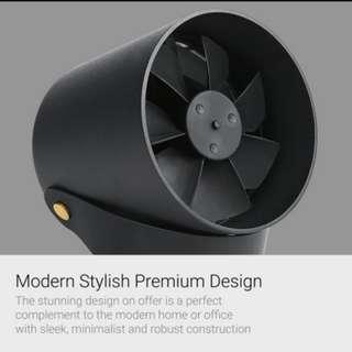 Smart twin blade minimalist USB fan