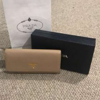 Authentic Prada Nude Wallet