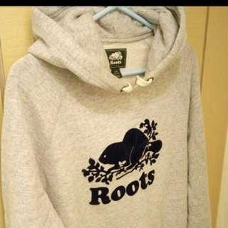 Roots 灰色 帽t 正品 基本款 帽踢