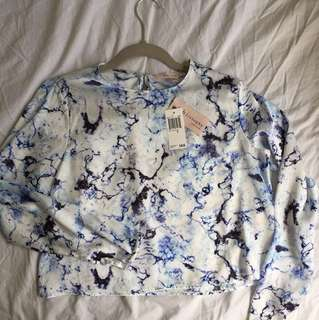 Philosophy marble print top (brand new)