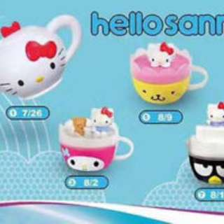 McDonald hello kitty sanrio teacups