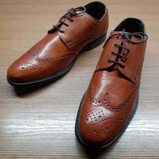 [Brand New] Debenhams The Collection - Tan Leather Brogued Derbies