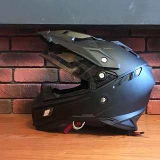 雙層鏡片 內建鏡片 THH TX27 SP 越野帽 經典素色霧面黑安全帽