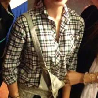 Plaid / Checkered long sleeves three fourths polo shirt (green, blue, white, red) JUMPER ALSO AVAILABLE 😍😍😍