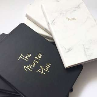 LUNARBAY : Marble Notebook / The Master Plan Notebook / Marble Stationery