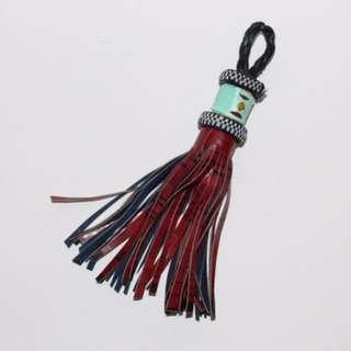 African Tassel Keychain