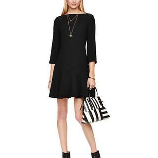 Kate Spade Black Flounce Dress