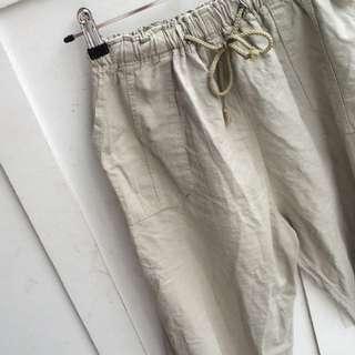 Khaki High Waisted Pants
