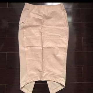 Faux leather peach skirt!