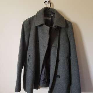 Uniqlo grey coat Xs