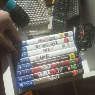 PS4 games x8