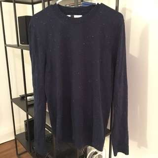 Blue/White Spec Sweater
