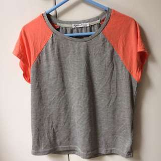 Gray and coral top