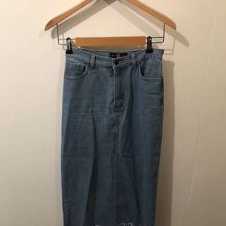 Daisy denim skirt xs