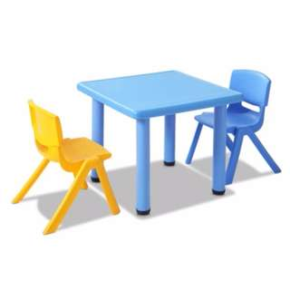 3 Pcs - Kids Table and Chairs Playset - Blue