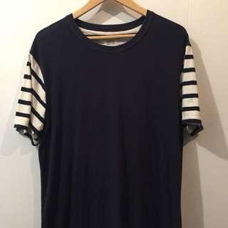 Sly Guild Stripe Sleeve T-Shirt Size Large
