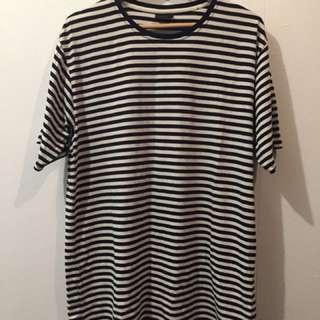 Huffer Navy/White Stripe T-Shirt Large