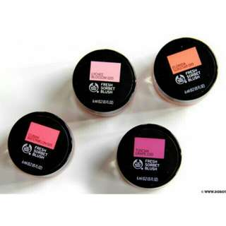 Fresh sorbet blush on The Body Shop